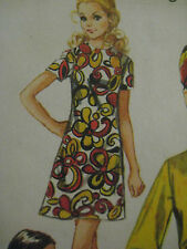 Vintage Simplicity 8585 MOD DRESS RETRO LAUGH IN Sewing Pattern Women Sz 10