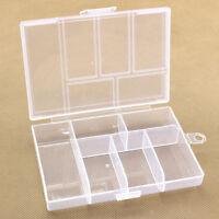 Einstellbare 6-Compartment Hartplastik Aufbewahrungsbox Schmuck Ohrring Stud·