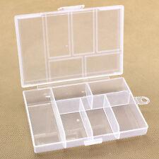 Einstellbare 6-Compartment Hartplastik Aufbewahrungsbox für Schmuck Ohrring Stud