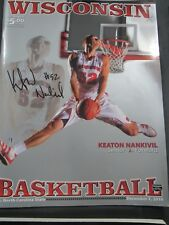 2010 UNIVERSITY OF WISCONSIN BADGERS VS NC STATE BASKETBALL PROGRAM AUTOGRAPHED
