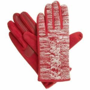 ISOTONER Red Marled Cable Fleece smarTouch THERMAflex Womens Gloves XL