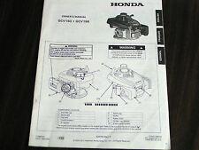 Honda Rotary Lawnmower Engine Operator'S Manual - Original Copy