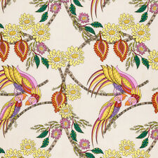 Colorful Birds & Paisley Free Spirit Fabric: (By the Half Yard)
