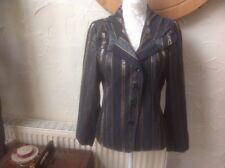 🐍B/A/S/L/E/R BASLER UK 12(40) Silver/black 🐍 Snakeskin Pinstripe jacket-VGC