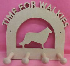 Dog lead hanger/holder craft blank 12mm Thick MDF (any dog) FREE post