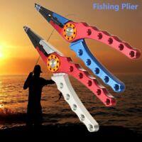 Aluminum Fishing Plier Saltwater Braid Line Cutter Scissors Hooks Remover Sheath