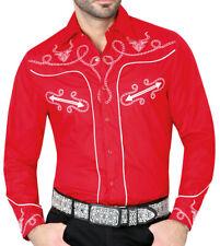Cowboy Shirt Camisa Vaquera Western Wear El Señor de los Cielos Red