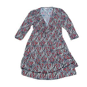 Leona Edimston Women's Stretch A-Line Dress Size 3 Approx 14