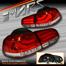 Clear Red R Style 3D LED Stripe Bar Tail Lights for VOLKSWAGEN VW GOLF VI 6