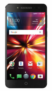 ALCATEL PULSEMIX - 16 GB - Black Cricket Prepaid Smartphone With SnapBak Power