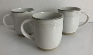 Royal Doulton Mug Set Of 3 Ellen Degeneres Gray, Off White & Tan Coffee Tea Mugs