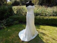Caroline Castigliano Pure Silk Ivory Wedding Dress UK Size 8-10    RRP £2500