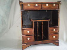 OLD  BOX FOR CORRESPONDENCE JEWELRY AND trinkets WOOD