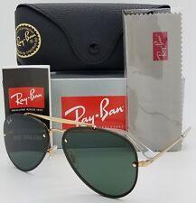 NEW Rayban Blaze Aviator sunglasses RB3584N 905071 58mm Gold Grey G15 AUTHENTIC