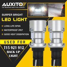 2X AUXITO T15 921 912 W16W LED Backup Reverse Light Bulb Canbus 6000k Bright EOA