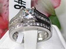 Princess Cubic Zirconia Stainless Steel Costume Rings