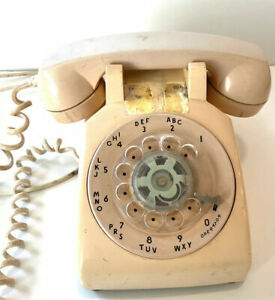 VINTAGE BELL SYSTEM MADE BY WESTERN ELECTRIC ROTARY PHONE BELL Beige Untested