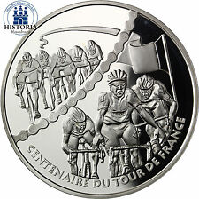 France 1,5 euro 100 ANS TOUR de FRANCE 2003 argent pièce Sprint