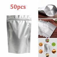 50 Stk Aluminiumfolie Mylar Bag Vakuumierer Lebensmittel Lagerung Paket Beutel