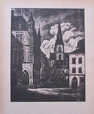 Ragimund Reimesch ECHTERNACH - OBERMOSEL BEI EHNEN Luxemburg 2 Drucke 1943 print