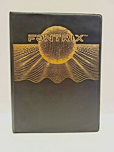 Fontrix Data Transforms Apple II, Two Font Disks, 1983 - Complete