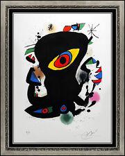 Joan Miro Original Color Lithograph Hand Signed Modern Abstract Illustration Art