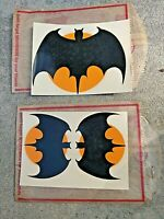 "60's Vintage Batman decals Two sizes, two 4"" x 3"" Sheets."