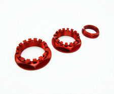 3PCS Rear wheel axle nut CNC Racing Aluminum Red for Ducati