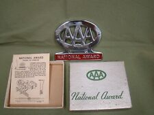 AAA national award license plate topper AAA trunk mount emblem badge AAA award