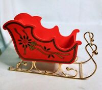 Santa Claus' Sleigh Christmas Decoration - Craft Table Candy Letter Holder