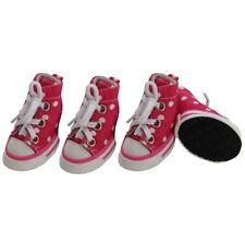 Small Dog Shoes Pink Sneaker Boots Rubber Grip Booties Canvas Converse Style