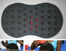 Double Barber Hair Brush Sponge For Dreads Locking Twist Coil Afro Curl  SALE