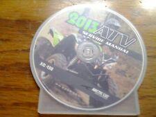 2013 Arctic Cat XC 450 ATV Service Manu CD (p/n 2259-589)