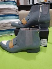 Mimco Leather Ankle BOOTS 41 Grey Loafer Flat BOOTIES