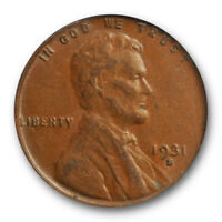 1931 S 1C Lincoln Wheat Cent PCGS AU 53 About Uncirculated to MS Key Date Cer...