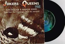 "JON ENGLISH & MARCIA HINES - JOKERS AND QUEENS - 7"" VINYL RECORD w PICT SLV 1982"