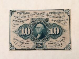 ~ US FRACTIONAL CURRENCY SPECIMEN 10 CENTS FIRST ISSUE - FR 1243sp