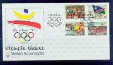 namibia /1992 barcelona olympic games s-fdc /mnh.good condition