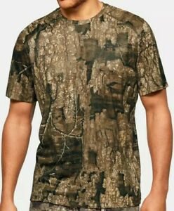 Mens Large Under Armour UA Early Season Kit Authentic Realtree Camo Shirt New