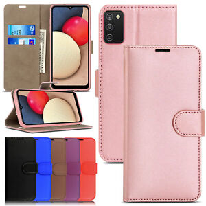 For Samsung Galaxy A02s Case Leather Wallet Book Flip Stand Cover for A02s Phone