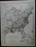 Racial Map of People of Color United States 1874 Walker lithograph info-graphic