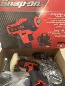 Snap On 14.4v Microlithium Cordless Polish/prep Tool Kit Red
