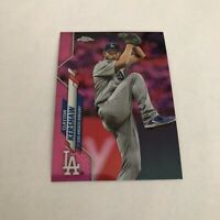 2020 Topps Chrome CLAYTON KERSHAW SP PINK REFRACTOR #122 Los Angeles Dodgers