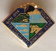 Mid North Coast Bowling Club Badge Rare Vintage (L4)