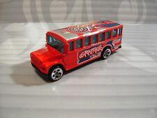 Hot Wheels Loose = Autobús Escolar = Rojo con / T Imágenes 5dot