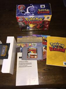 Pokemon Stadium N64 Complete in Box CIB with Game, Transfer Pak and Inserts