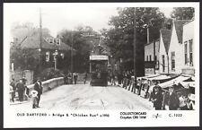 "Dartford, Kent. Old Dartford. Tram in ""Chicken Run & Bridge c1910 . Pamlin RPPC"