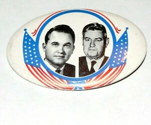 1968 GEORGE WALLACE CURTIS LEMAY campaign pinback button political presidential
