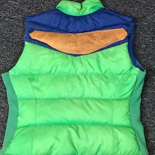 Vtg 70's 80's Liberty Bell Jacket Puffer Vest Leather Patch Down Green Blue Ski