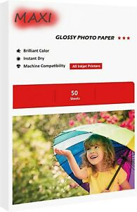 50 Sheets 4X6 210GSM High Glossy Photo Paper For Inkjet Paper Printing